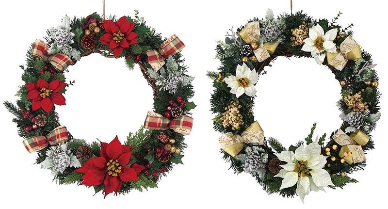 【店舗・イベント用品】【クリスマス】【ツリー・リース】50cmエダリース・ナチュラル