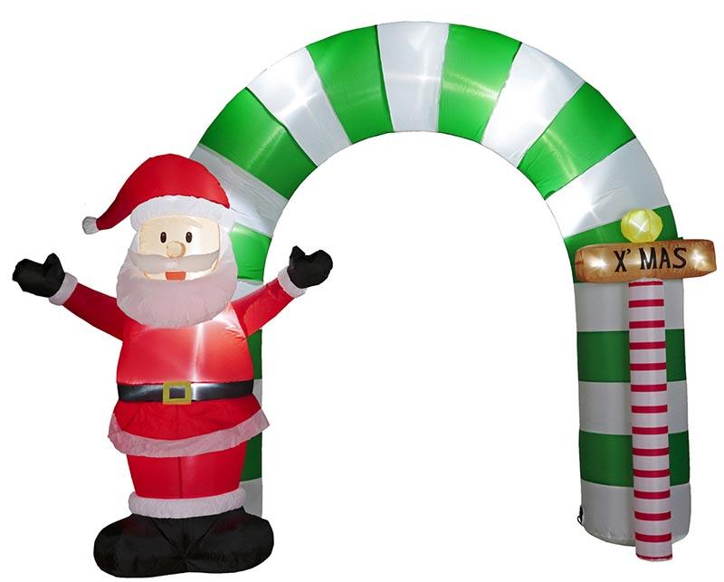 【店舗・イベント用品】【クリスマス】【エアディスプレイ】エアディスプレイアーチ・サンタサインポード