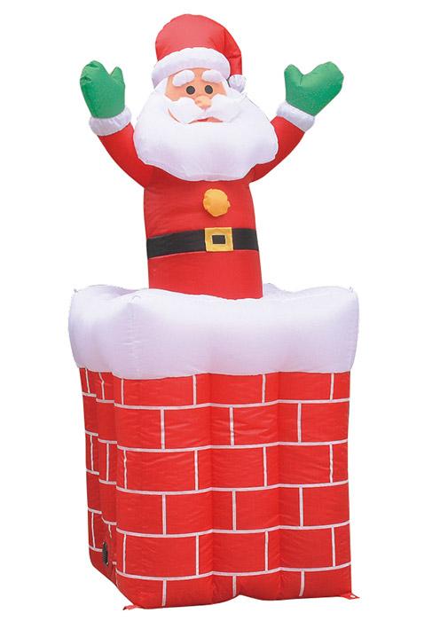 【店舗・イベント用品】【クリスマス】【エアディスプレイ】ムービングエアディスプレイ・エントツサンタ180cm