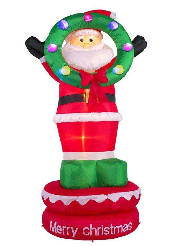 【店舗・イベント用品】【クリスマス】【エアディスプレイ】ムービングエアディスプレイ・サンタリース180cm