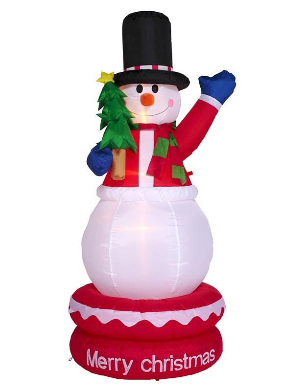 【店舗・イベント用品】【クリスマス】【エアディスプレイ】ムービングエアディスプレイ・スノーマンツリー180cm