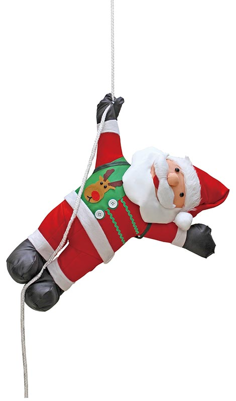 【店舗・イベント用品】【クリスマス】【ドール・グッズ】60cmサンタ人形ロープ