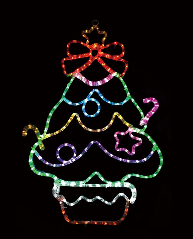 【店舗・イベント用品】【クリスマス】【モチーフライト】LEDチューブライト・ファニーツリー