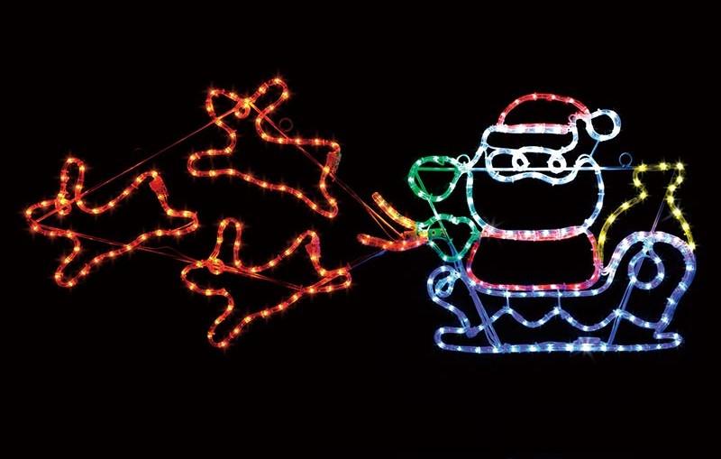 【店舗・イベント用品】【クリスマス】【モチーフライト】LEDチューブライト・サンタソリ