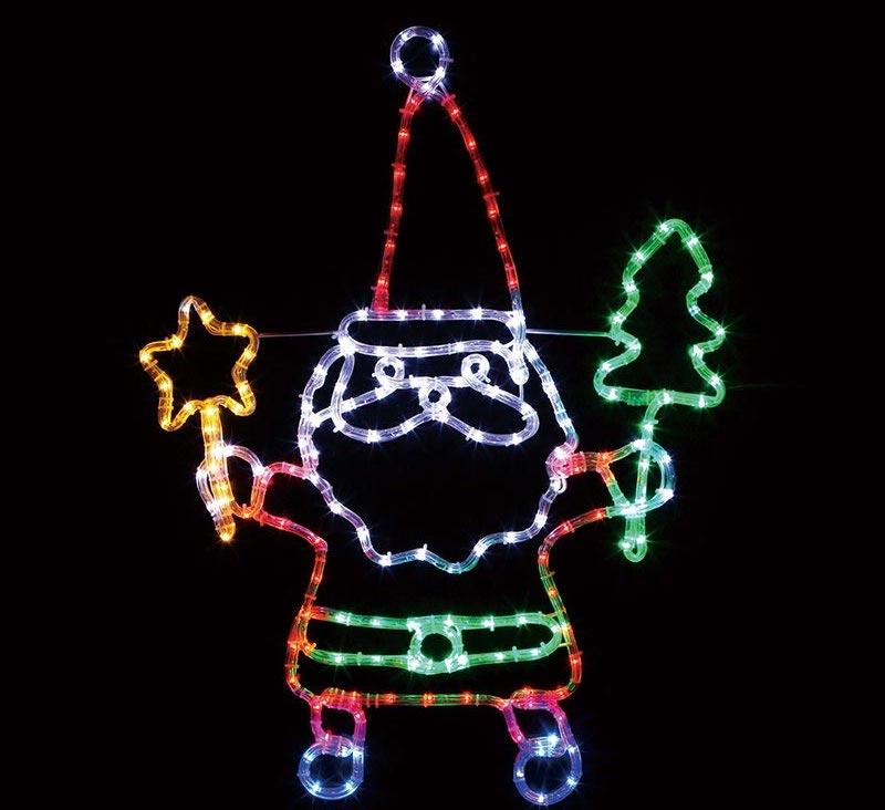 【店舗・イベント用品】【クリスマス】【モチーフライト】LEDチューブライト・ファニーサンタ