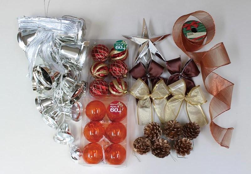 【店舗・イベント用品】【クリスマス】【オーナメント】オーナメントセット・カッパー