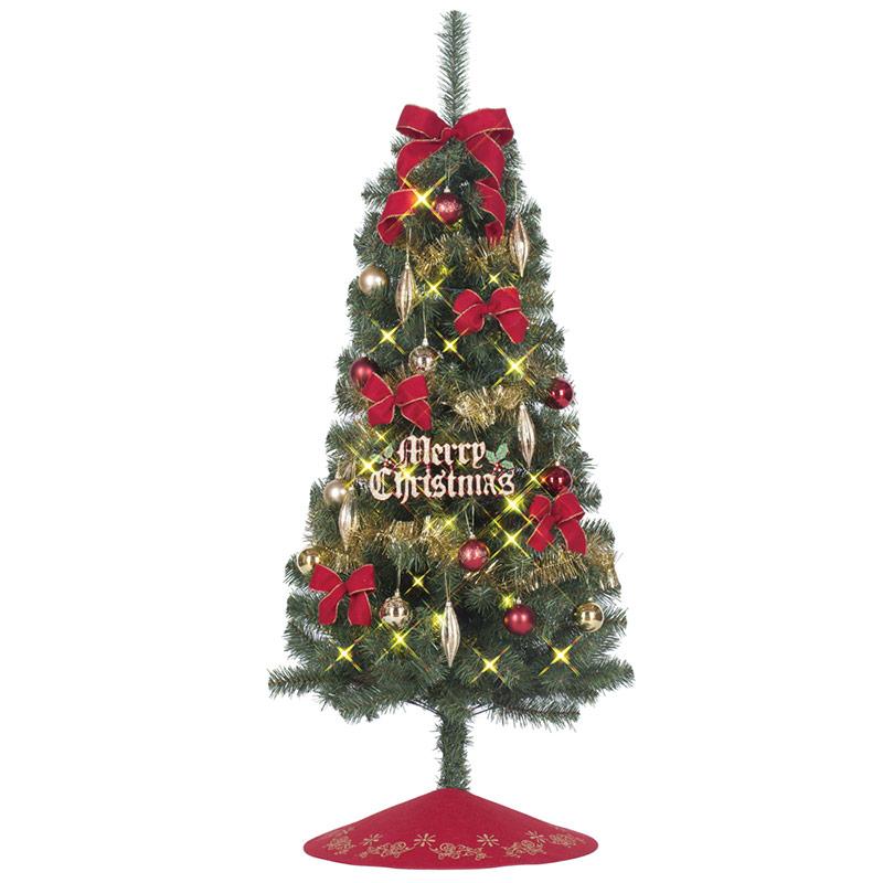 【店舗・イベント用品】【クリスマス】【ツリー・リース】セットツリー・JOYレッド・150cm