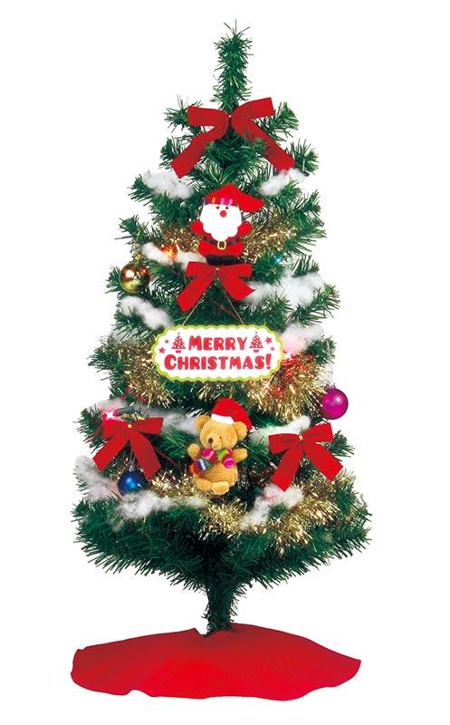 【店舗・イベント用品】【クリスマス】【ツリー・リース】セットツリー・トイファブリック90cm
