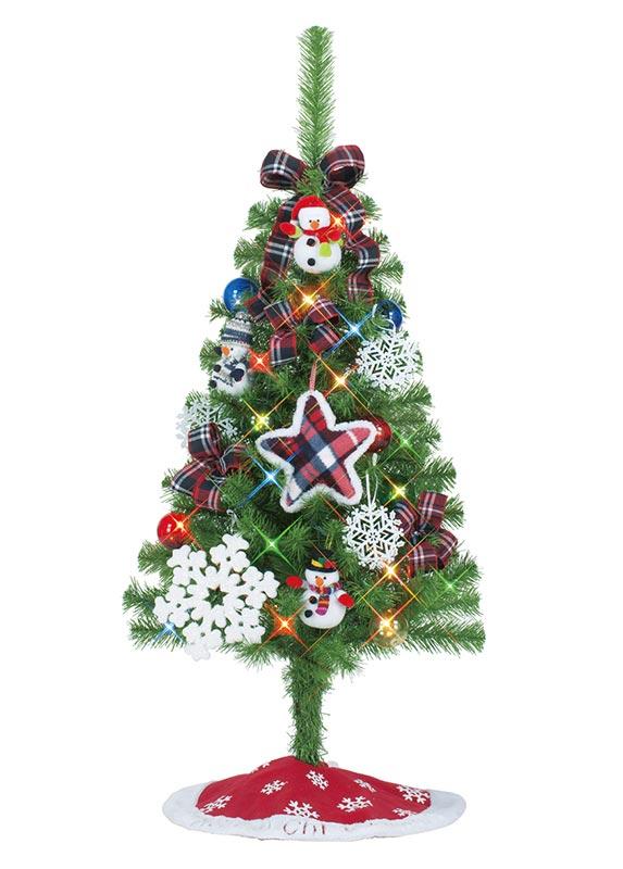 【店舗・イベント用品】【クリスマス】【ツリー・リース】セットツリー・スノーメモリアル120cm