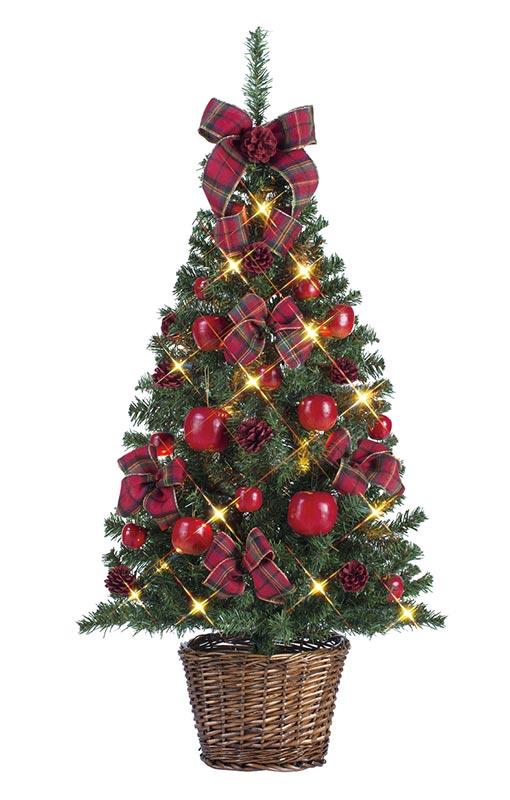 【店舗・イベント用品】【クリスマス】【ツリー・リース】セットツリー・リンゴ135cm