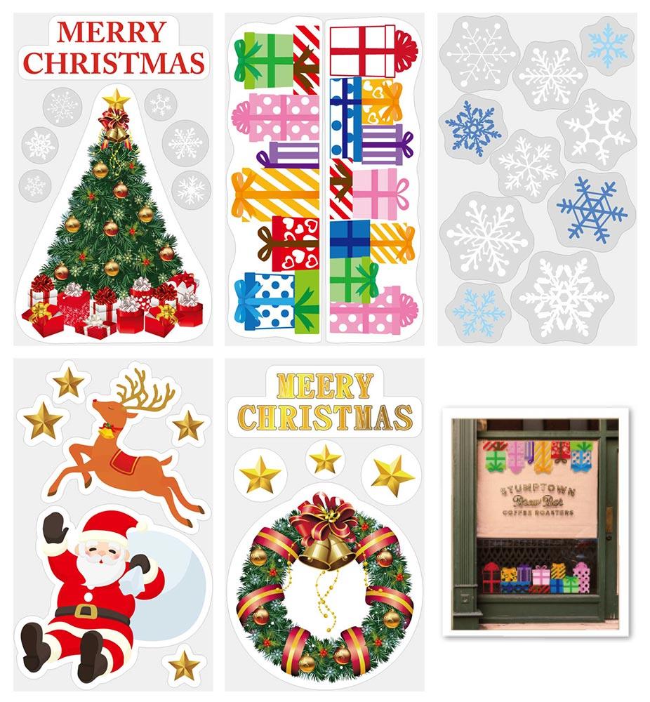【店舗・イベント用品】【クリスマス】【ウィンドウデコレーション】ウィンドステッカー