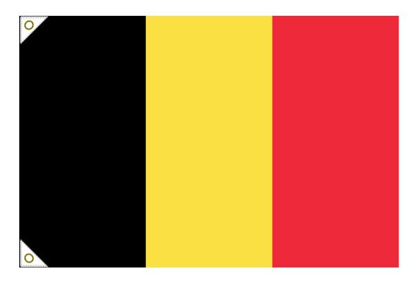 【万国旗・世界の国旗】ベルギー国旗(135cm幅/エクスラン)