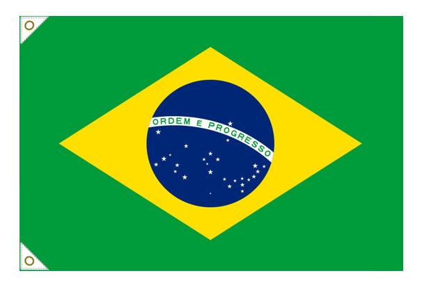 【万国旗・世界の国旗】ブラジル国旗(135cm幅/エクスラン)