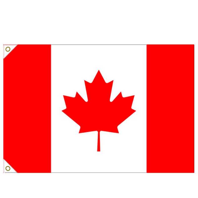 【万国旗・世界の国旗】カナダ国旗(135cm幅/エクスラン)