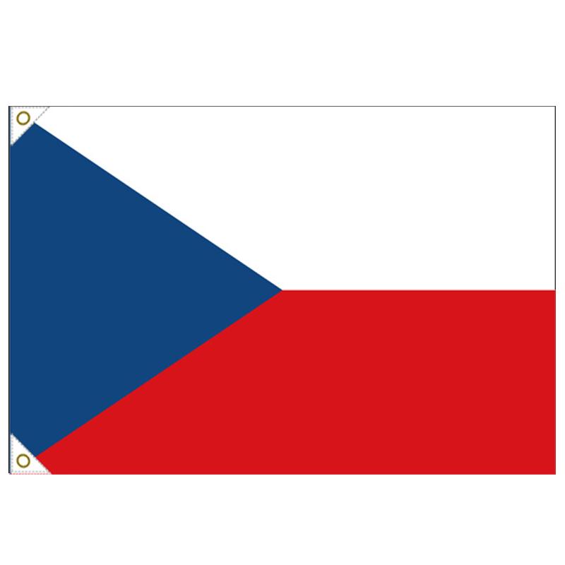 【万国旗・世界の国旗】チェコ国旗(135cm幅/エクスラン)