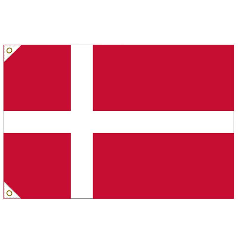 【万国旗・世界の国旗】デンマーク国旗(135cm幅/エクスラン)