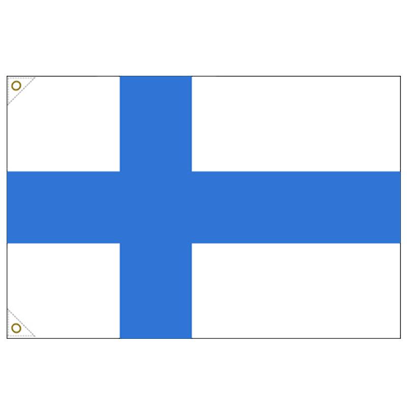 【万国旗・世界の国旗】フィンランド国旗(135cm幅/エクスラン)