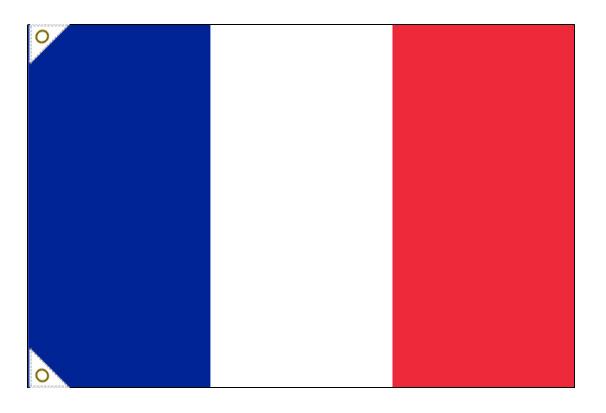 【万国旗・世界の国旗】フランス国旗(135cm幅/エクスラン)