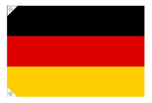 【万国旗・世界の国旗】ドイツ国旗(135cm幅/エクスラン)