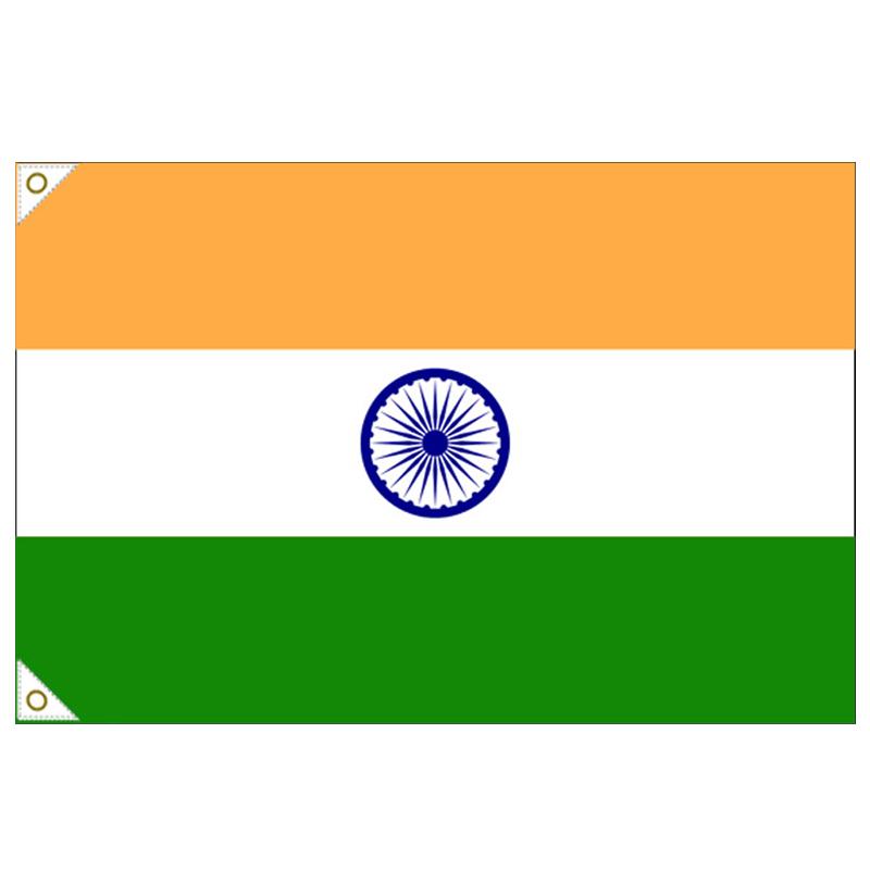 【万国旗・世界の国旗】インド国旗(135cm幅/エクスラン)
