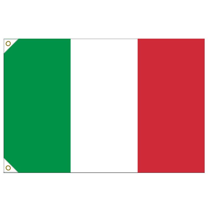 【万国旗・世界の国旗】イタリア国旗(135cm幅/エクスラン)
