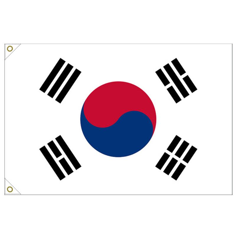 【万国旗・世界の国旗】大韓民国・国旗(135cm幅/エクスラン)