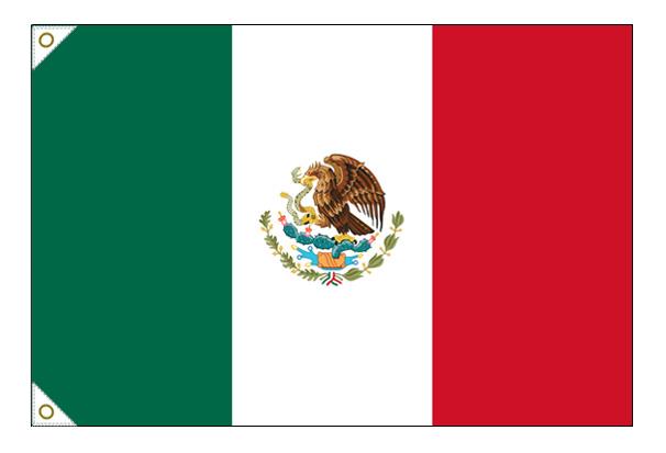 【万国旗・世界の国旗】メキシコ国旗(135cm幅/エクスラン)