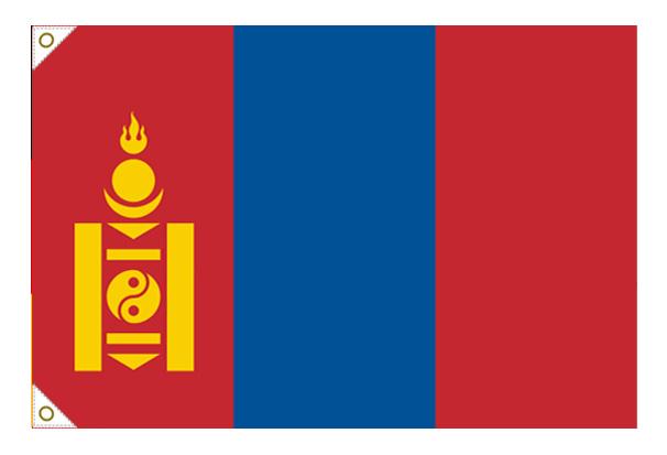 【万国旗・世界の国旗】モンゴル国旗(135cm幅/エクスラン)