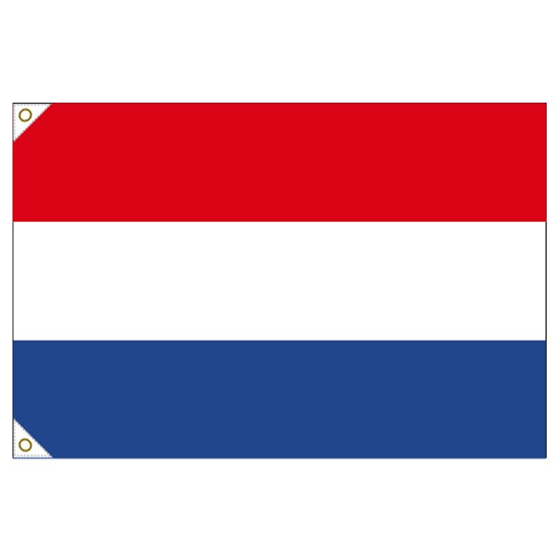 【万国旗・世界の国旗】オランダ国旗(135cm幅/エクスラン)