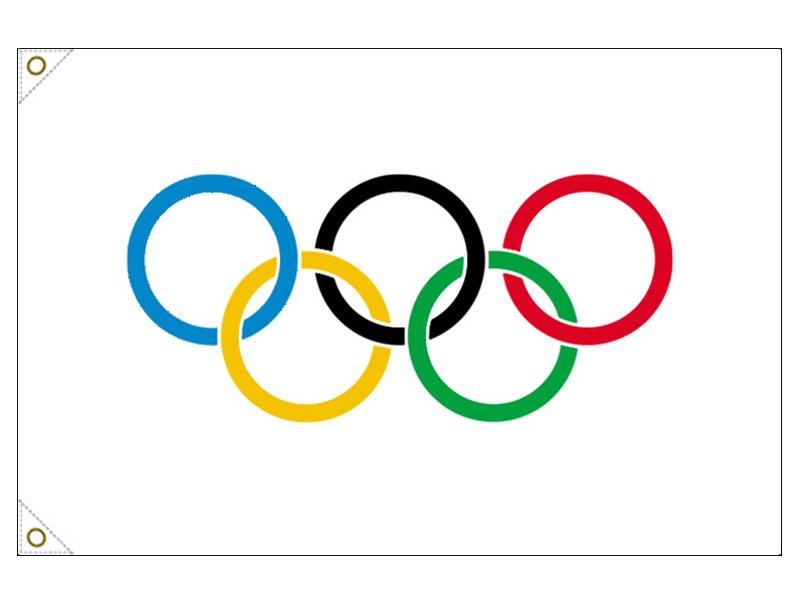 【万国旗・世界の国旗】オリンピック旗(135cm幅/エクスラン)