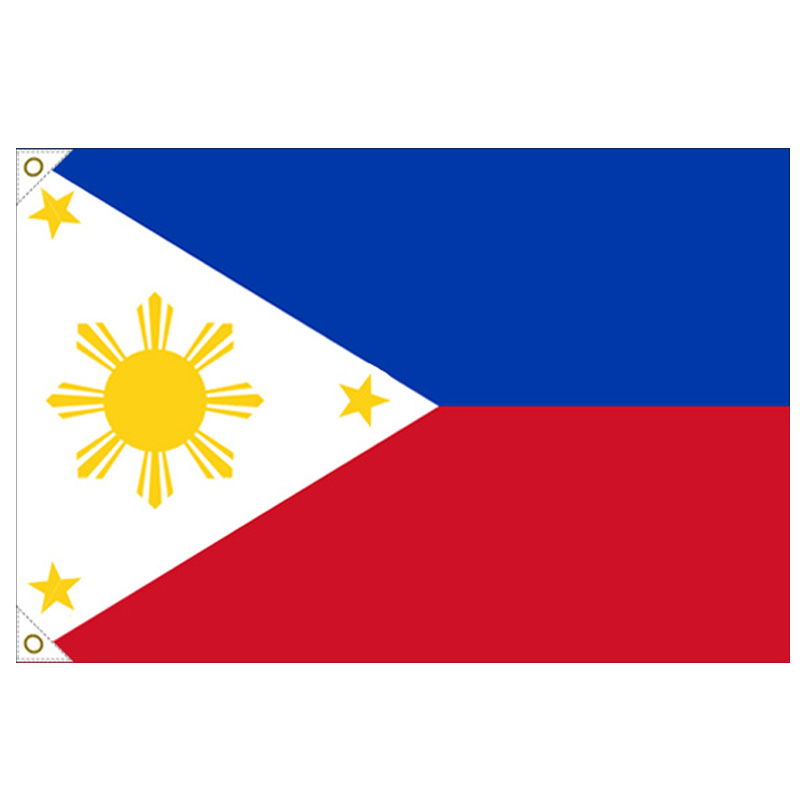 【万国旗・世界の国旗】フィリピン国旗(135cm幅/エクスラン)