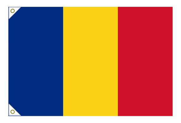 【万国旗・世界の国旗】ルーマニア国旗(135cm幅/エクスラン)