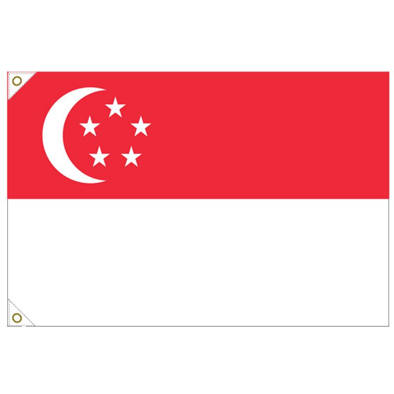 【万国旗・世界の国旗】シンガポール国旗(135cm幅/エクスラン)