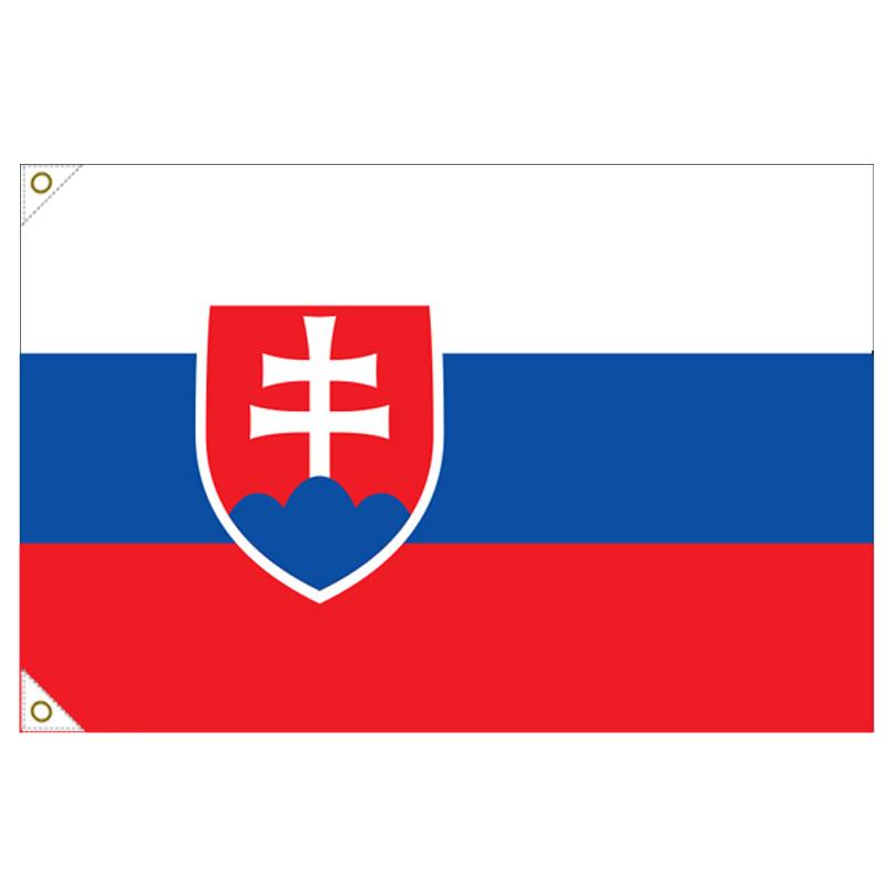 【万国旗・世界の国旗】スロバキア国旗(135cm幅/エクスラン)