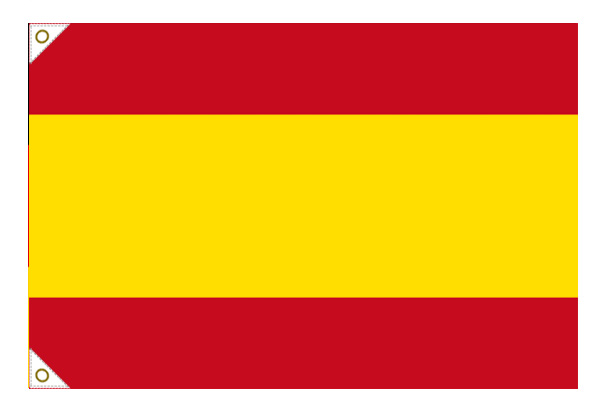 【万国旗・世界の国旗】スペイン国旗(紋なし)(135cm幅/エクスラン)