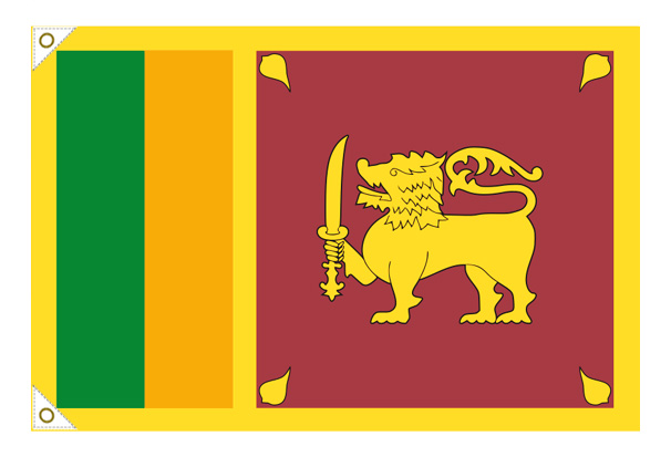 【万国旗・世界の国旗】スリランカ国旗(135cm幅/エクスラン)