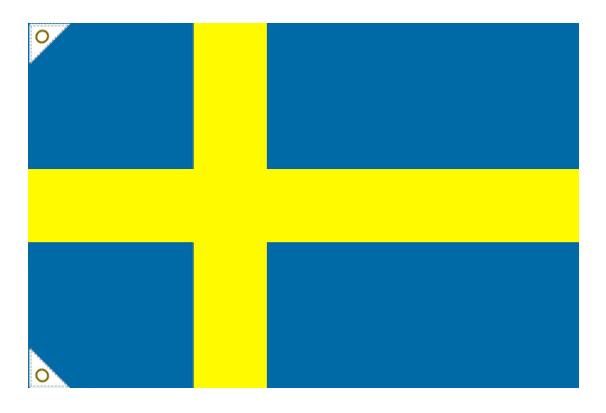 【万国旗・世界の国旗】スウェーデン国旗(135cm幅/エクスラン)