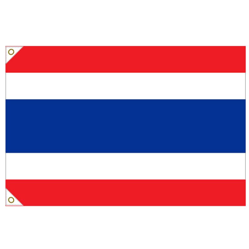 【万国旗・世界の国旗】タイ国旗(135cm幅/エクスラン)