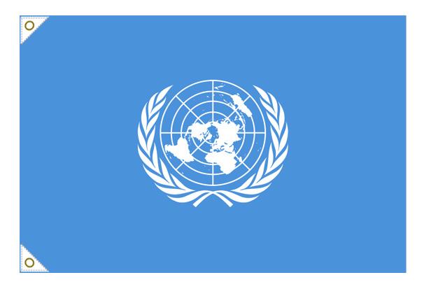 【万国旗・世界の国旗】国際連合・国旗(135cm幅/エクスラン)