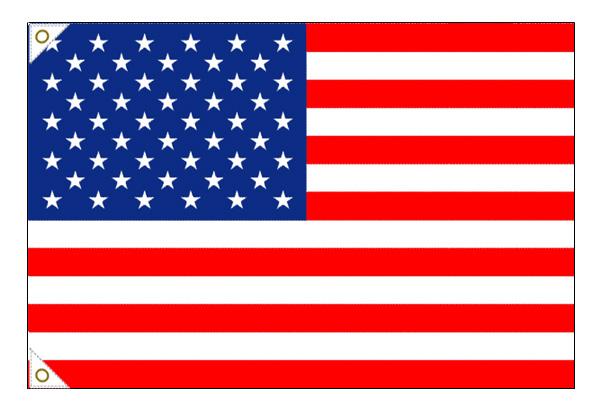 【万国旗・世界の国旗】アメリカ国旗(135cm幅/エクスラン)