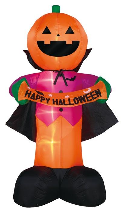 【店舗・イベント用品】【ハロウィン】エアーデスプレイ・ハッピーパンプキン240cm