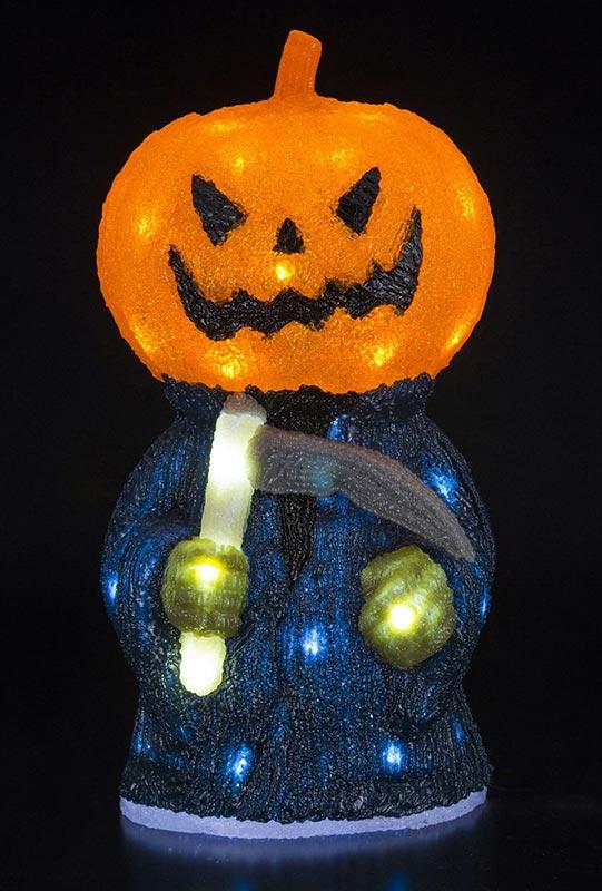 【店舗・イベント用品】【ハロウィン】LEDクリスタルモチーフ・パンプキンリーバー