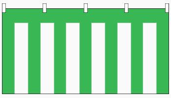 【紅白幕】ブロード緑白幕(180cm高)5.4m長(3間)
