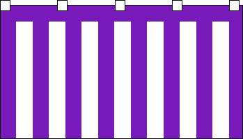 【紅白幕】ブロード紫白幕(180cm高)9.0m長(5間)