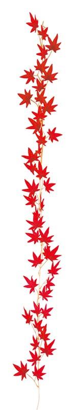 【店舗・イベント用品】【秋】【紅葉】もみじガーランド・レッド24本セット