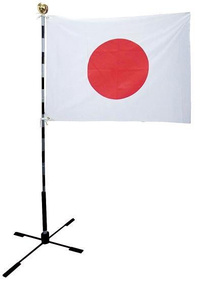 【万国旗・世界の国旗】日本国旗セット スタンド付(105cm幅)