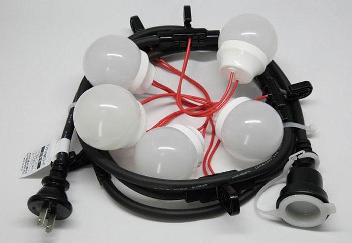 【イベント】【催事】【提灯】【祭り】LEDワンタッチ提灯コード・長10m/10灯