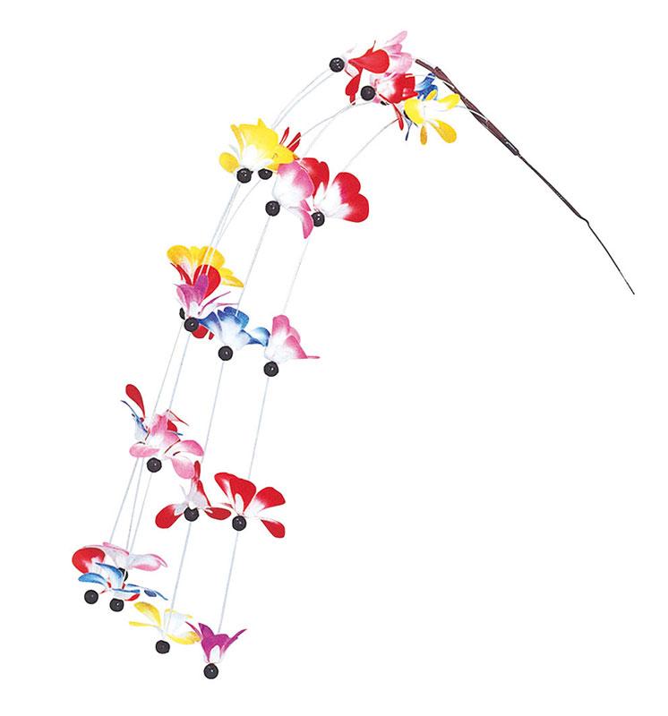 【店舗・イベント用品】【正月用品】【花・アレンジ】シダレ追羽根10個セット