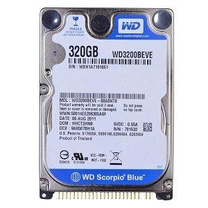 送料無料★2.5インチ ノート用HDD 320GB Westerndigital IDE ハードディスク WD3200BEVE 5400rpm 内臓HDD★送料無料★