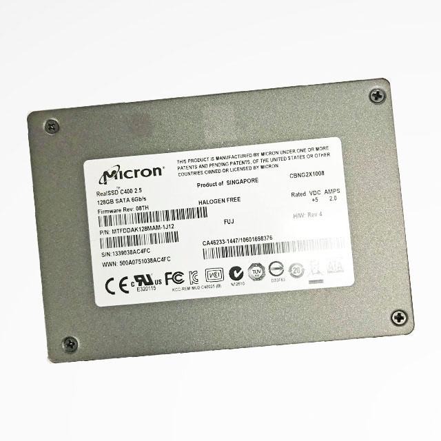 安心保障1か月 ポスト投函ですので 時間指定できません Micron 割り引き RealSSD C400 2.5インチ 128GB 送料無料 内臓SSD お値打ち価格で 中古 S 9mm SATA 増設SSD 6GB